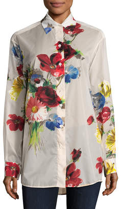 26cfecddb0ceb Celine Floral Printed Button Up Shirt