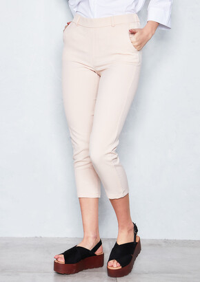 26e8f5f72d2 Missy Empire Missyempire Juan Nude Straight Leg Cropped Trousers