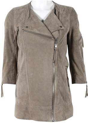 AllSaints Beige Leather Jackets