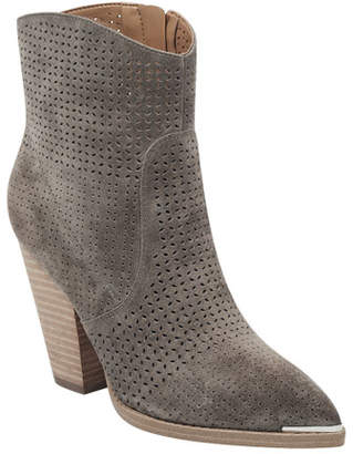 Marc Fisher Daire Perforated Suede Boots