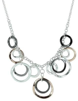 Takobia Tri-Color Circle Charm Necklace