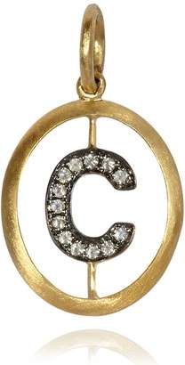 Annoushka Yellow Gold and Diamond Initial C Pendant