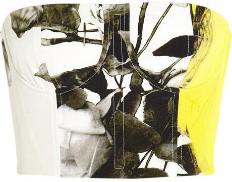 Christopher Kane Printed silk bustier