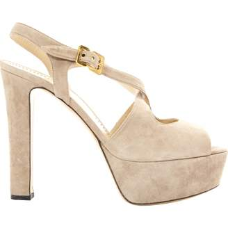 Moschino Cheap & Chic Moschino Cheap And Chic Beige Suede Sandals