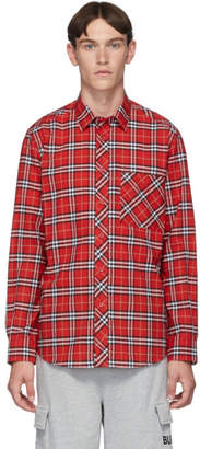 Burberry Red Check Classic Long Sleeve Shirt
