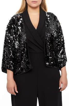 76a5b428a4c at Nordstrom · Addition Elle LOVE AND LEGEND Sequins Short Kimono Jacket