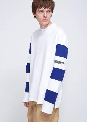 Calvin Klein Breton Long Sleeve Tee With Embroidery