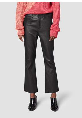 Derek Lam 10 Crosby Stretch Leather Cropped Flare Trouser