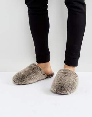 Ted Baker Nnyah Furry Slip On Slippers