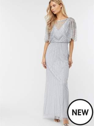 Monsoon Tatiana Embellished Maxi Dress - Blue