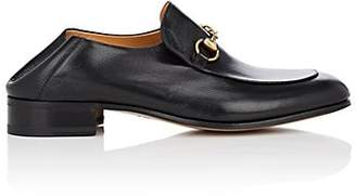 Gucci Men's Horse-Bit Leather Loafers - Black
