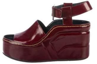 Celine Patent Leather Platform Wedges