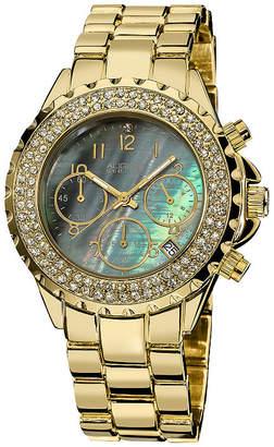 August Steiner Womens Gold Tone Bracelet Watch-As-8031yg