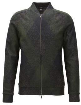 BOSS Hugo Italian Sweater Jacket Salea XL Open Grey