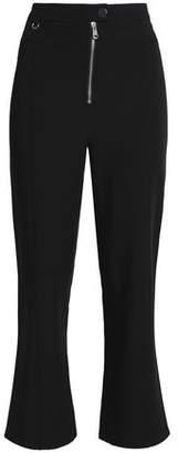 Cinq à Sept Cropped Stretch-Crepe Straight-Leg Pants