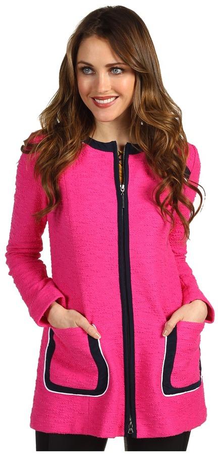 Nanette Lepore Gallerist Coat (Shock Pink) - Apparel