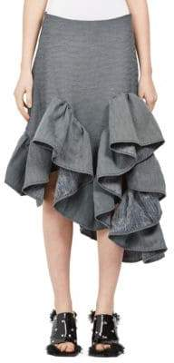 Marques Almeida Denim Ruffle Skirt