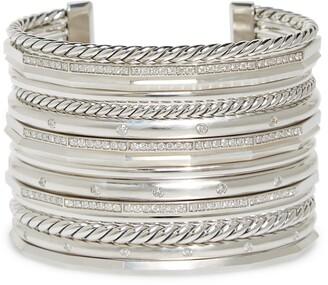 af55604c9 David Yurman Stax Wide Cuff Bracelet with Diamonds, 54mm