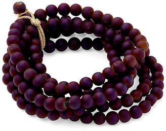 Catherine Canino Druzy Quartz Stretch Bracelet Set - Purple