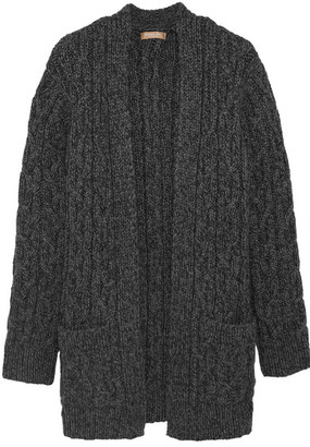Michael Kors Collection - Cable-knit Cashmere Cardigan - Gray $2,695 thestylecure.com