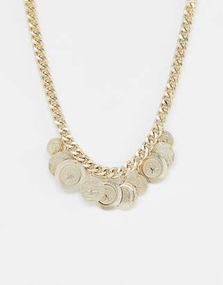 Bershka coin necklace