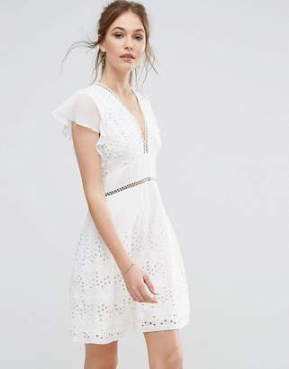French Connection Hesse Broderie Dress $241 thestylecure.com