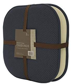 GoodGram Non Slip Ultra Comfort Memory Foam Chair Pads - Assorted Colors (Charcoal)