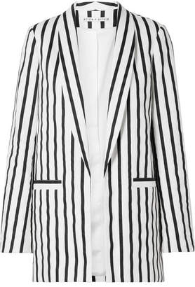 Alice + Olivia Alice Olivia - Kylie Striped Cotton-blend Twill Blazer - Black