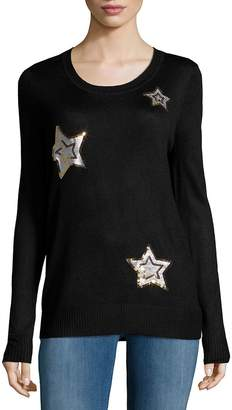 Saks Fifth Avenue RED Women's Sequin Star Sweater