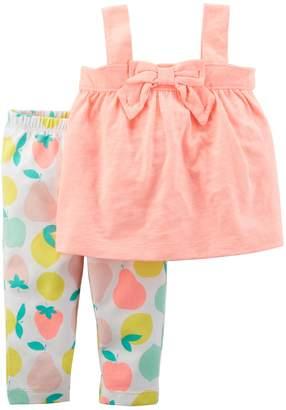 Carter's Baby Girl Bow Tank Top & Fruit Leggings Set