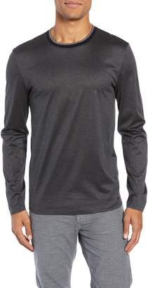 BOSS Tenison Mercerized Long Sleeve Slim Fit T-Shirt