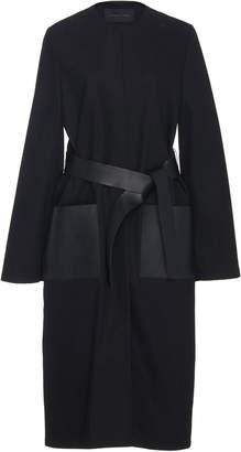 Jeffrey Dodd Leather Pocket Belted Cotton Coat