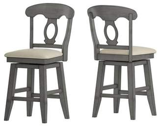 """Inspire Q 24"""" South Hill Napoleon Back Swivel Counter Height Chair"""