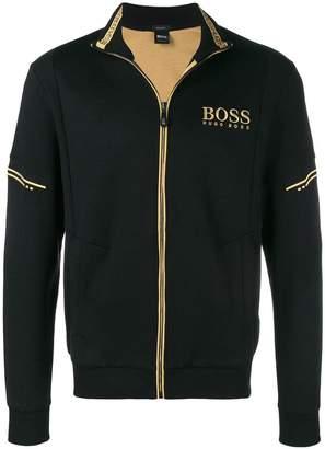 HUGO BOSS zipped logo jacket