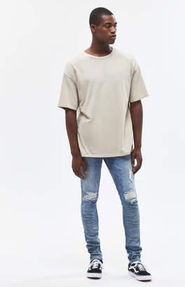 Pacsun Stacked Skinny Paint Splatter Medium Jeans