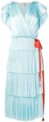 Diane von Furstenberg Sasha pleated ruffle wrap dress