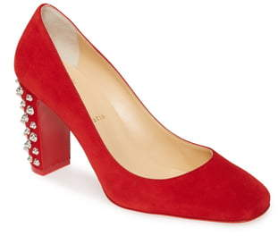 Christian Louboutin Donna Spike Square Toe Pump