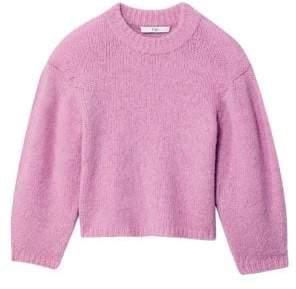 Tibi Cozette Alpaca& Wool Blend Cropped Sweater