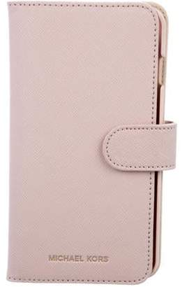Michael Kors Leather iPhone Case Pink Leather iPhone Case