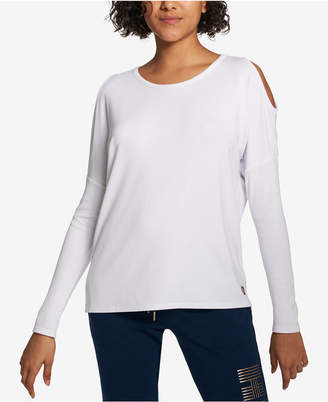 Tommy Hilfiger (トミー ヒルフィガー) - Tommy Hilfiger Sport Cold-Shoulder Top, Created for Macy's