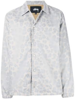 Stussy leopard print shirt jacket