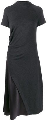 Brunello Cucinelli (ブルネロ クチネリ) - Brunello Cucinelli サテンパネル ドレス