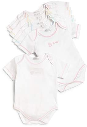 Kissy Kissy Baby Girl's Seven-Piece Day of The Week Cotton Bodysuit Set