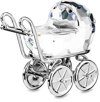 Swarovski Collectible Figurine, Baby Carriage