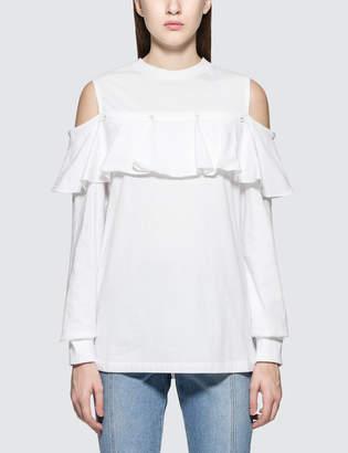 Sjyp Frill Button Sweatshirt