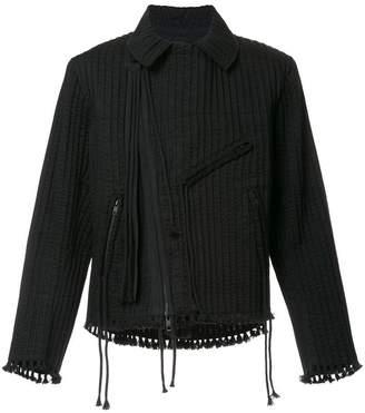 Craig Green tassel trimmed biker jacket