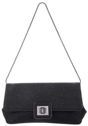 Azzaro Felt Shoulder Bag Grey Felt Shoulder Bag