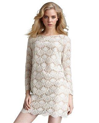 Tibi Swan Lace Shift Dress
