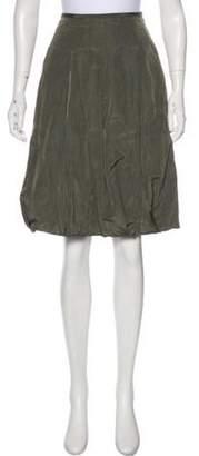 Dries Van Noten Knee-Length Linen-Blend Skirt Knee-Length Linen-Blend Skirt