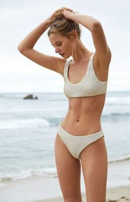 Kendall & Kylie White & Gold Bralette Bikini Top
